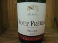 Bott Freres Riesling tradition '12